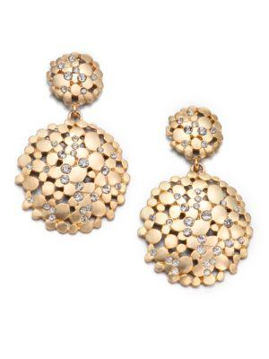 Abs By Allen Schwartz Jewelry Pavé Double Drop Earrings