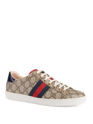 Gucci New Ace Canvas Sneakers