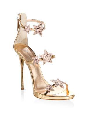 Giuseppe Zanotti Coline Crystal Embellished Leather Sandals