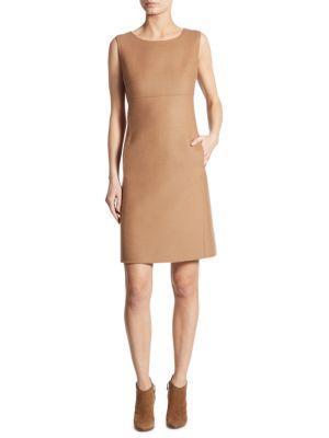 Weekend Max Mara Sleeveless Wool Sheath Dress
