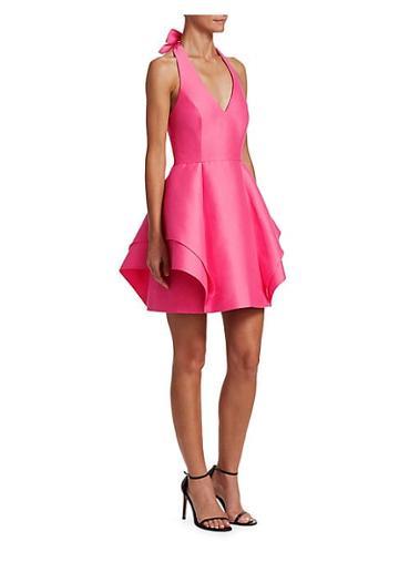 Halston Heritage Halterneck Fit-&-flare Cocktail Dress