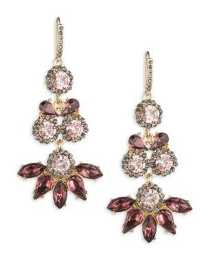 Abs By Allen Schwartz Jewelry Stone-accented Chandelier Earrings