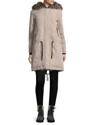 Moncler Veronika Blue Frost Fox Fur Jacket