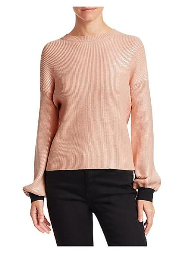 Emporio Armani Laminated Crewneck Sweater