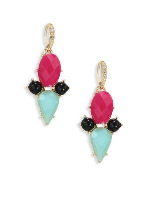 Abs By Allen Schwartz Jewelry Going Coastal Bright Drop Earrings