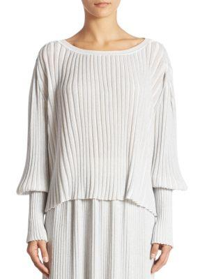 Adam Lippes Ribbed Knit Blouse