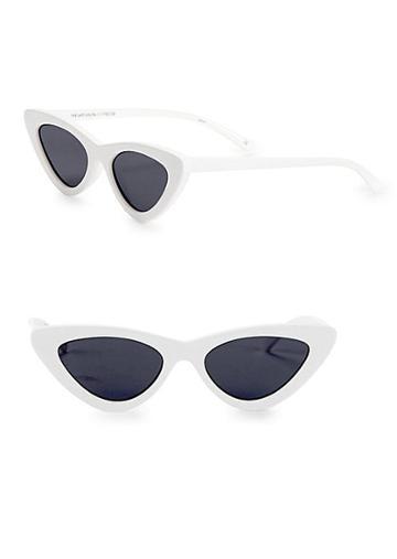 Le Specs Luxe Adam Selman X Le Spec Luxe The Last Lolita White Sunglasses