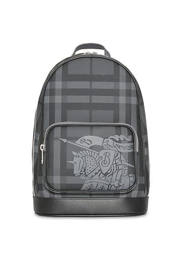 Burberry Equestrian Knight Tartan Backpack