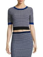 Diane Von Furstenberg Knit Crewneck Cropped Top