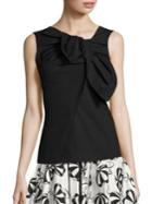 Carolina Herrera Asymmetrical Bow Blouse