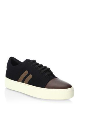 Neil Barrett Skateboard Leather Sneakers