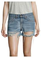 Rag & Bone Boyfriend Distressed Denim Shorts/rye