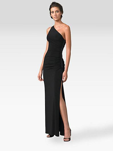 Laundry By Shelli Segal One-shoulder Matte Jersey Dress