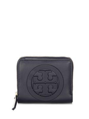 Tory Burch Charlie Mini Leather Bi-fold Wallet