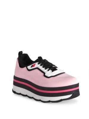 Prada Nylon Platform Sneakers