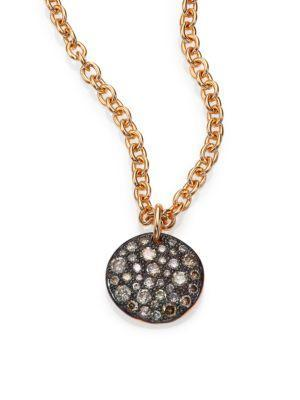 Pomellato Sabbia Brown Diamond & 18k Rose Gold Pendant