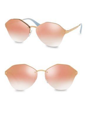 Prada 54mm Mirrored Sunglasses