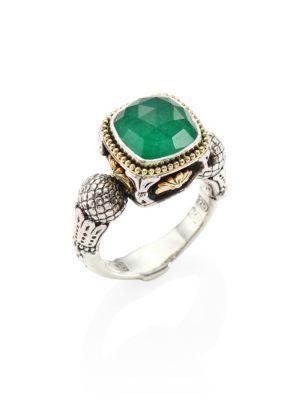 Konstantino Nemesis Jade & 18k Yellow Gold Ring