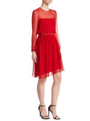 No. 21 Pleated Silk Dress