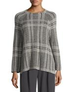 Eileen Fisher Printed Roundneck Box Top