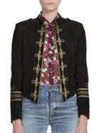 Saint Laurent Suede Officer Jacket