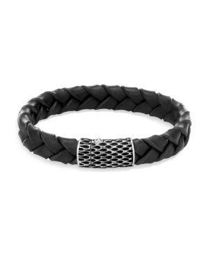 John Hardy Legends Black Woven Leather Bracelet