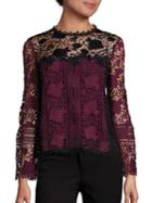 Nanette Lepore Intoxicating Colorblock Lace Top