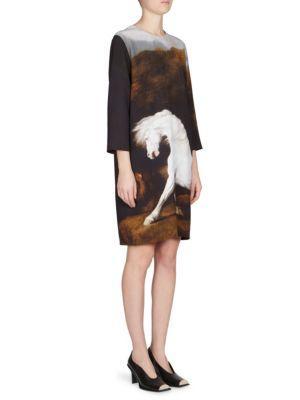 Stella Mccartney Horse-print Shift Dress