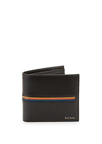 Paul Smith Rainbow Stripe Bifold Leather Wallet