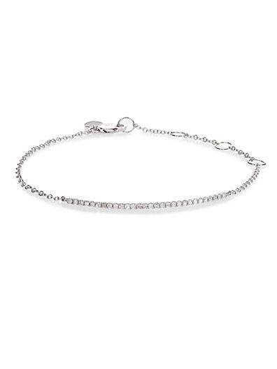 Meira T Diamond & 14k White Gold Bar Chain Bracelet