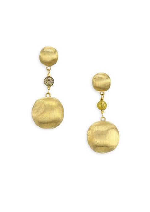 Marco Bicego Africa Multicolor Diamond & 18k Yellow Gold Beaded Drop Earrings