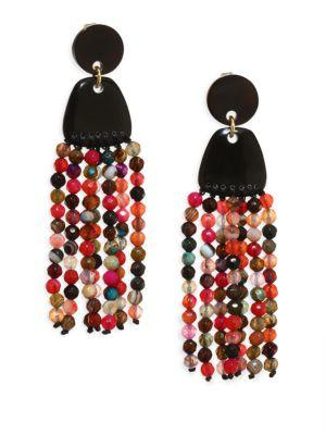 Nest Agate Tassel Earrings