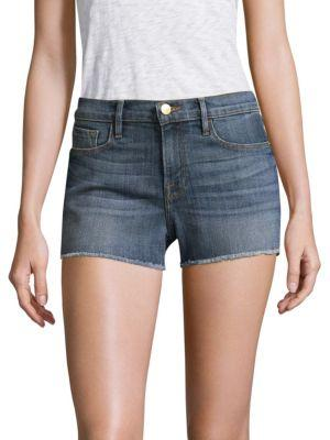 Frame Cut-off Denim Shorts