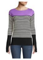 Beatrice B Colorblock Stripe Knit Pullover