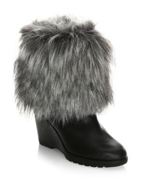 Sorel Parkcity Leather Boots With Faux Fur