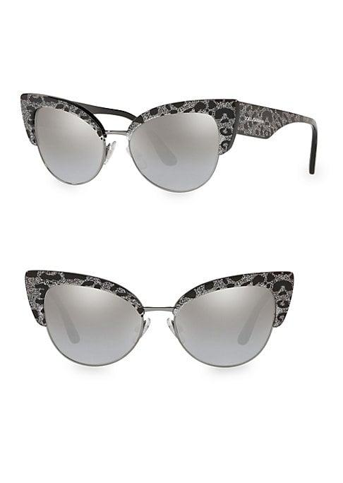 Dolce & Gabbana 53mm Cat Eye Leopard Sunglasses