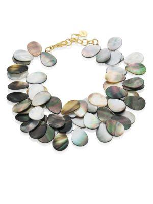 Nest Grey Mother-of-pearl Statement Necklace