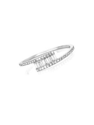 Ef Collection Diamond Baguette Twist Ring