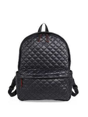 Mz Wallace Oxford Small Quilted Nylon Backpack