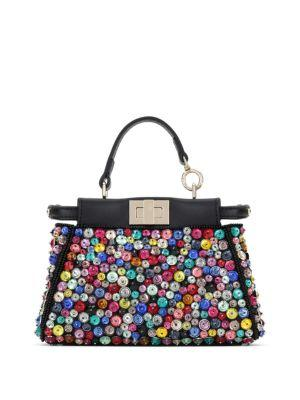 Fendi Peekaboo Micro Beaded Satchel