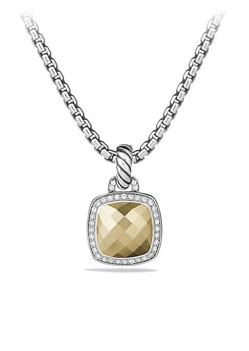David Yurman Albion Pendant With Faceted Dome And Diamonds