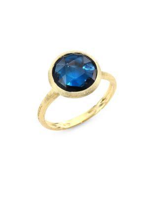 Marco Bicego Jaipur London Blue Topaz Statement Ring