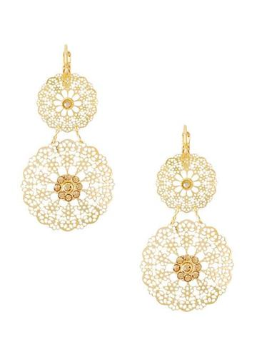Gas Bijoux Flocon 24k Gold-plated & Swarovski Crystal Drop Earrings
