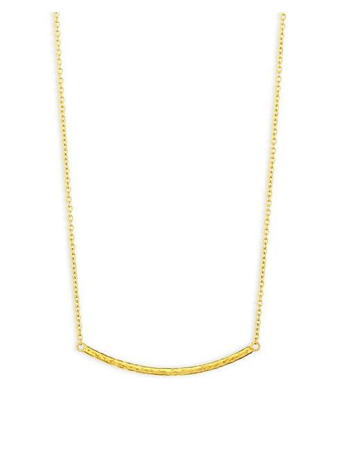 Gurhan Curved Bar 18k Yellow Gold & 22k Yellow Gold Necklace