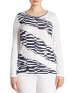 Stizzoli, Plus Size Plus Animal Print Sweater