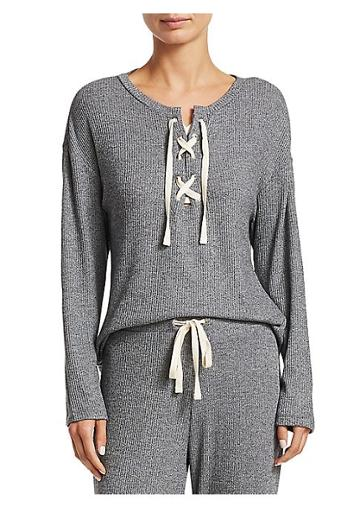 Cosabella Lacie Lace-up Sweater