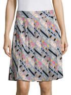 Marc Jacobs Printed Pleated Skirt