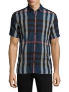 Burberry Moore Plaid Cotton Shirt