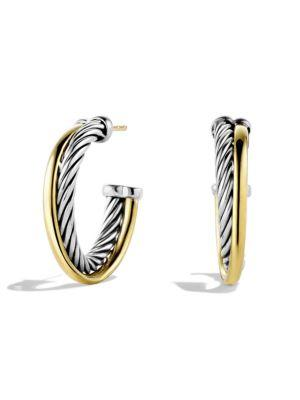 David Yurman Crossover Small Hoop Earrings In Gold