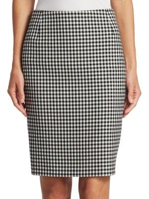 Akris Punto Gingham Plaid Skirt